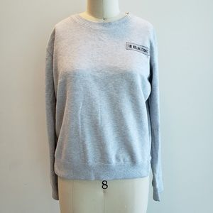 Size S Cotton On Rolling Stones gray sweater